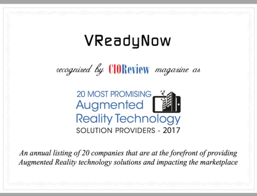 VReadyNow recognized as 20 Most Promising AR Technology Provider